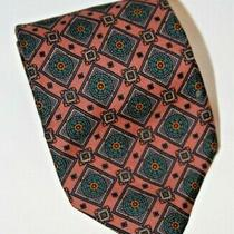 Vintage Robert Talbot Designer Silk Neck Tie Pink Geometric Pattern Euc Photo