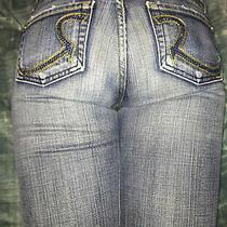 Vintage Rock & Republic Long Flare Jeans Swarovski Crystal Elements Sz 26 180 Photo