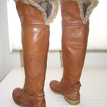 Vintage Sam Edelman Newport Leather Shearling Lined Over Knee Boots 8.5 9 Photo