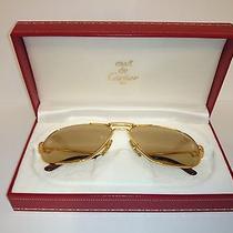 Vintage Santos De Cartier  56mm Sunglasses 14k Gold Heavy Plated Photo