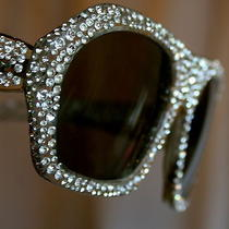 Vintage Seventies Disco Rhinestone Sunglasses by Nina Ricci Super Collectible Photo