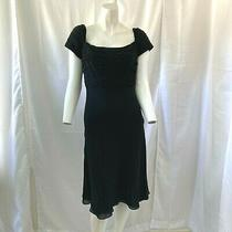 Vintage Sherrie Bloom Peter Noviello Chetta B Womens Black 100% Silk Dress Sz 4 Photo