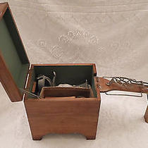 Vintage Shoe Shine Box Stand With Extras Antique Box Brushes  Photo