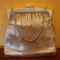 Vintage Signed  Whiting & Davis Silver Mesh Hand Bag Purse Med Size Photo