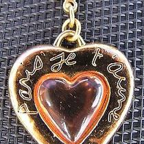Vintage Signed Yves Saint Laurent Gold Tone Heart Pendant- Paris Je t'aime Photo