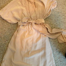 Vintage Silk Dress Blush Pink v Neck Short Baby Doll 2 Small  Photo