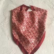 Vintage Silk Scarf Coach Pink Red  Logo 19 Photo