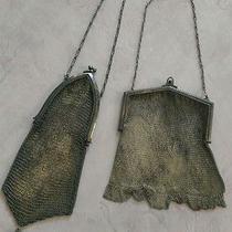 Vintage Silver Mesh Handbag Antique Whiting Davis  Photo