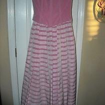 Vintage Size 3 Gown Pink Dress Formal Dance Jessica Mcclintock Corset Crinoline  Photo