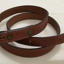 Vintage Size 30 Genuine Frye Brand Light Brown Leather Western American Belt Photo