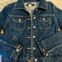 Vintage Size Small Womens Express Denim Jacket Blue Dark Wash 90s Jacket Photo