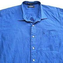 Vintage Size Xl Christian Dior Blue Black Plaid Long Sleeve Button Up Shirt Mens Photo