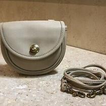 Vintage Small Coach Crossbody Shoulder Handbag/purse Beige Photo