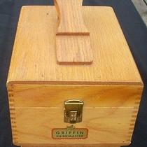 Vintage Solid Wood Griffin Shinemaster Box W Footrest & Wood & Lambswool Buffer Photo