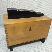 Vintage Solid Wood Shoe Shine Box Dovetailed Euc Nice Photo