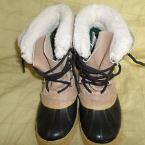 Vintage Sorel Caribou Insulated Leather and Rubber Boots Sz 7 Made in Canada Photo