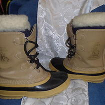 Vintage Sorel Manitou Canada  Leather Snow Waterproof Insulated Boot Women 5 Photo