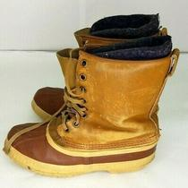 Vintage Sorel Premium Mens Leather Boots Size 8 Tan Brown Photo
