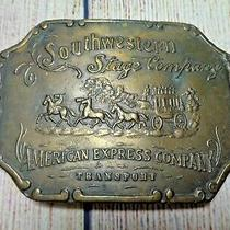 Vintage Southwestern Stage Company American Express Transport Cowboy Belt Buckle Photo