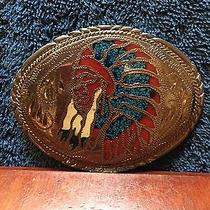 Vintage Ssi Native American Chief Engraved 4