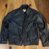 Vintage St. John's Bay Brown Leather Jacket Size M Photo