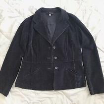 Vintage St. John's Bay Stretch Women's Navy Blazer Jacket Corduroy Size L Photo