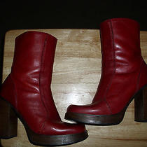 Vintage Steve Madden Boots Size 10 Red 9/10 Condition Photo