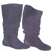 Vintage Steve Madden Slouch/pirate Boots-7m-Purple Suede-Vgc-Free Usa Shipping Photo