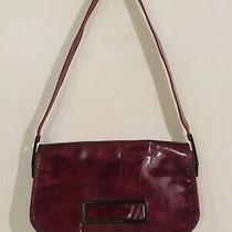 Vintage Stuart Weitzman Red Handbag Purse Shoulder Baguette Bag Clutch 90s Strap Photo