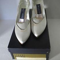 Vintage Stuart Weitzman White Satin Wedding Heels Pumps Shoes Size 5.5 W/box   Photo