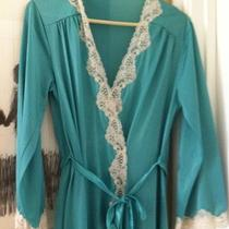 Vintage Stunning Lace Robe Aqua Color Adjustable Closure Retro Photo