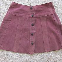Vintage Suede Mini Skirt Photo