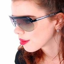 Vintage Sunglasses Fossil Carolee  Ps 3763 Cat No. 2 Black Aviator Style  Photo