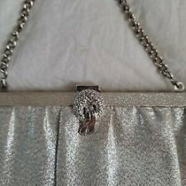 Vintage Super Sparkle Glitter Silver Shine Handbag Clutch Purse 10