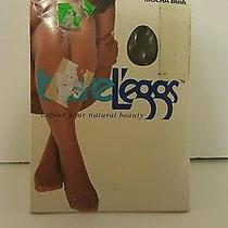 Vintage Sz a Bare Leggs Mocha Blush Control Top Nylons Photo
