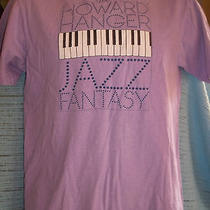Vintage T Shirt-Howard Hanger Jazz Fantasy-Piano Keys-1980's-Sz Med-Purple Photo