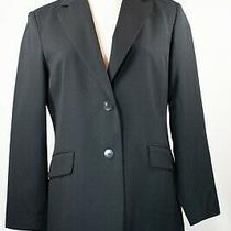 Vintage Talbots Petites 90's Black 100% Wool Blazer Sz 10 Photo