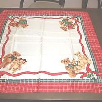 Vintage Teddy Bear Scarf 34 Inch Square by Avon Photo