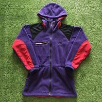 Vintage the North Face Hooded Fleece Jacket Parka Rage Purple Womens Size Large Photo