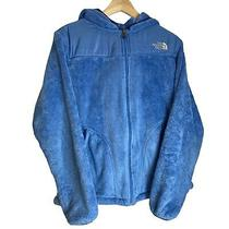 Vintage the North Face Ladies Womens Blue Sherpa Teddy Bear Fleece Jacket - L Photo