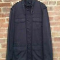Vintage Theory Men's Light Coat. Size Large Navy Blue Photo