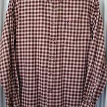 Vintage Tommy Hilfiger 3-Color-Checks Long-Sleeve Cotton Flannel Shirt Size-L Photo