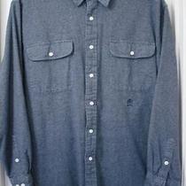 Vintage Tommy Hilfiger Black-Gray Long Sleeve 100% Cotton Flannel Shirt Size-L Photo