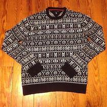 Vintage Tommy Hilfiger Xl Snowflake Ugly Christmas Sweater Santa Polo Photo