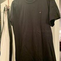Vintage Tommy Jeans Hilfiger Men's Red and Blue Flag Logo T-Shirt Size Large Usa Photo