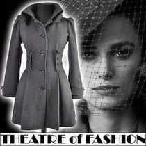 Vintage Topshop Corset Coat Jacket 10 38 6 8 40s War Bride 50s Victorian Riding Photo