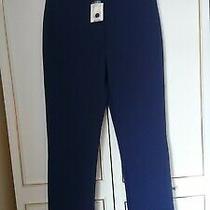 Vintage Topshop Navy Straight Leg Trousers-Longer Leg Lenght Size 14 Bnwt Photo