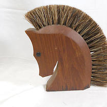 Vintage Trojan  Horse Head Shoe Shining  Brush  Made in Italy                B2 Photo