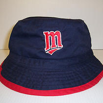 Vintage Twins Bucket Hat One Size by Drew Pearson Navy Nwt Photo