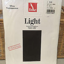 Vintage Uk Falke Light Summer Tights Dark Brown/black Pantyhose One Size Photo